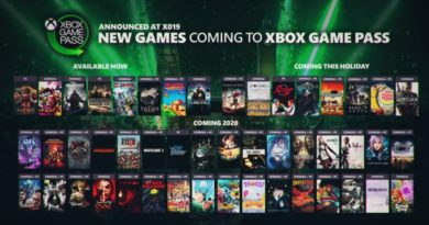 Xbox game pass releases